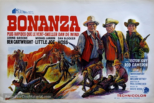 """Bonanza"" - Belgian Movie Poster"