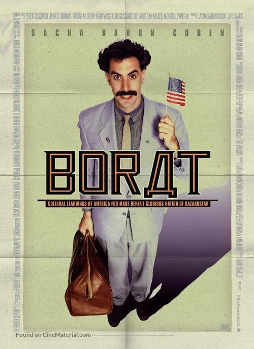 Borat: Cultural Learnings of America for Make Benefit Glorious Nation of Kazakhstan - Danish Movie Poster