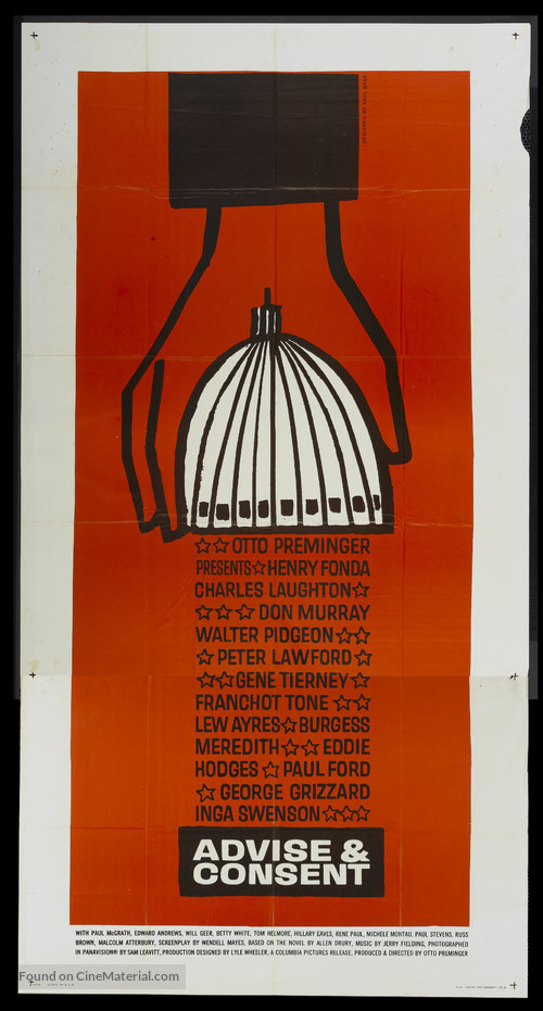 Advise & Consent - Theatrical poster