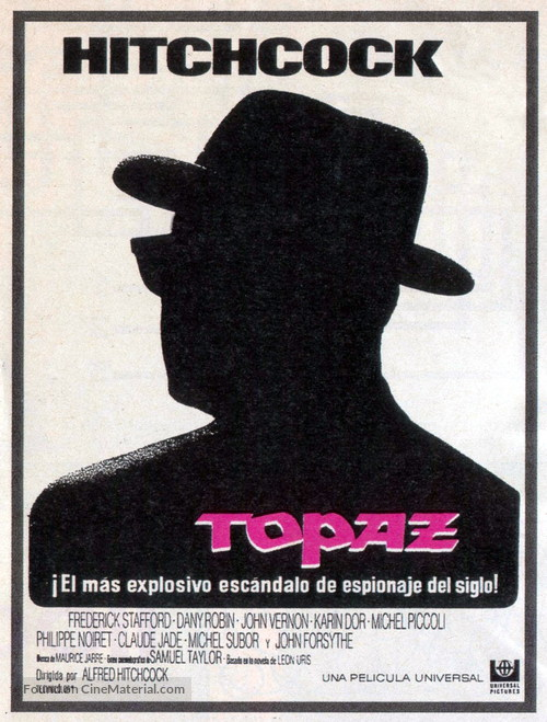 Topaz - Spanish Movie Poster