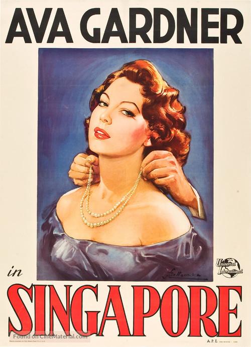 Singapore - Italian Movie Poster