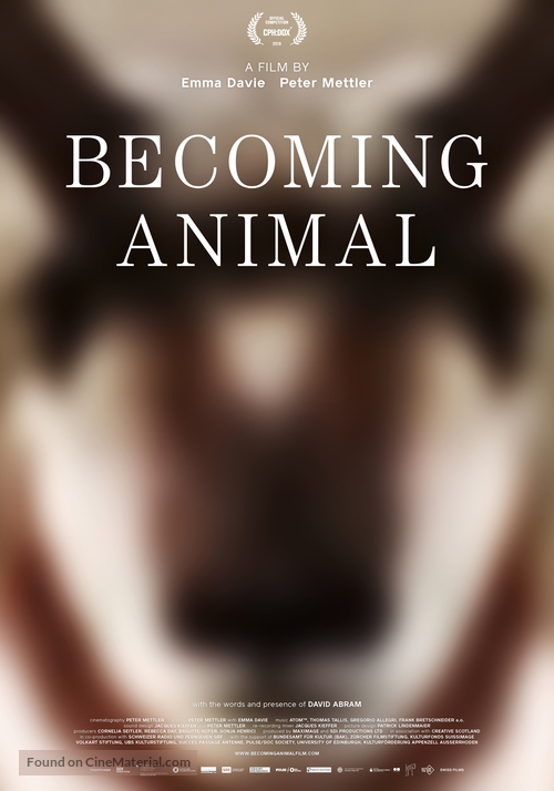 Becoming Animal - Swiss Movie Poster