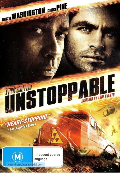 Unstoppable - Australian DVD movie cover
