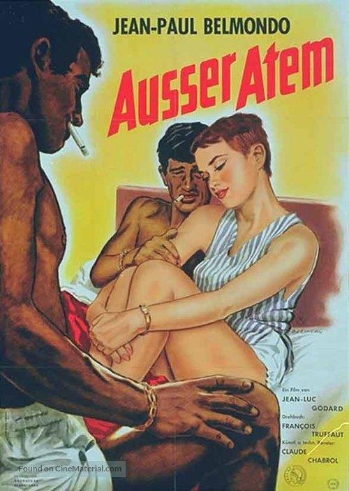 À bout de souffle - German Movie Poster
