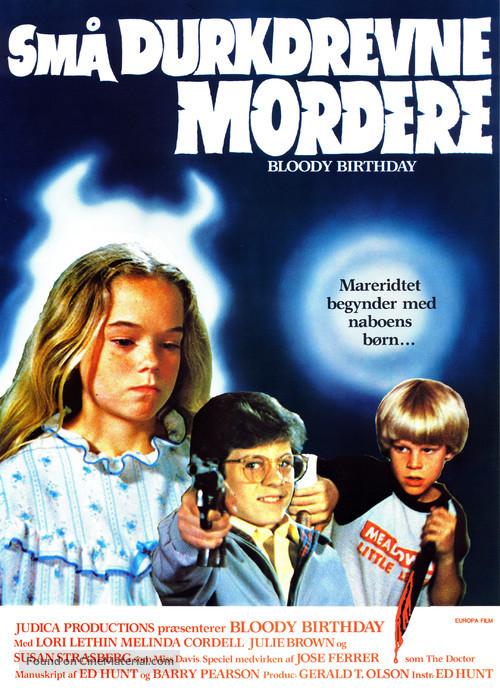 Bloody Birthday - Danish Movie Poster