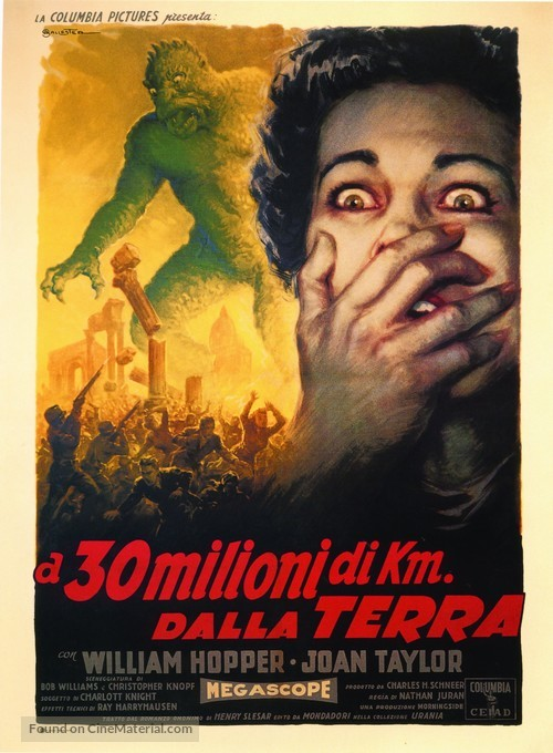 20 Million Miles to Earth - Italian Movie Poster