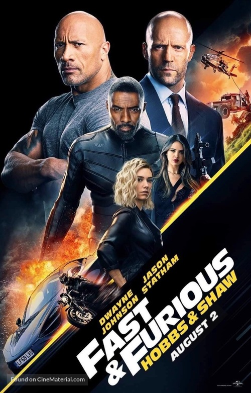 Fast & Furious Presents: Hobbs & Shaw - Indian Movie Poster
