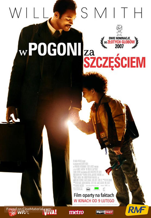 The Pursuit of Happyness - Polish Movie Poster