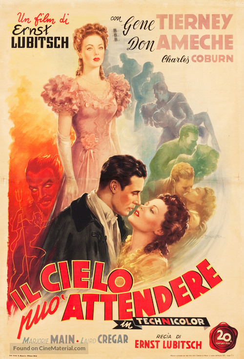 Heaven Can Wait - Italian Movie Poster