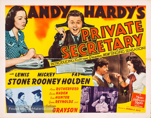 Andy Hardy's Private Secretary - Movie Poster