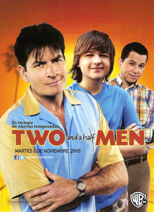 """""""Two and a Half Men"""" - Argentinian Movie Poster"""