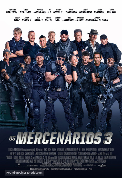 The Expendables 3 - Brazilian Movie Poster