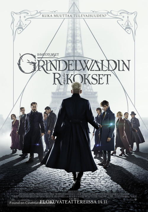 Fantastic Beasts: The Crimes of Grindelwald - Finnish Movie Poster