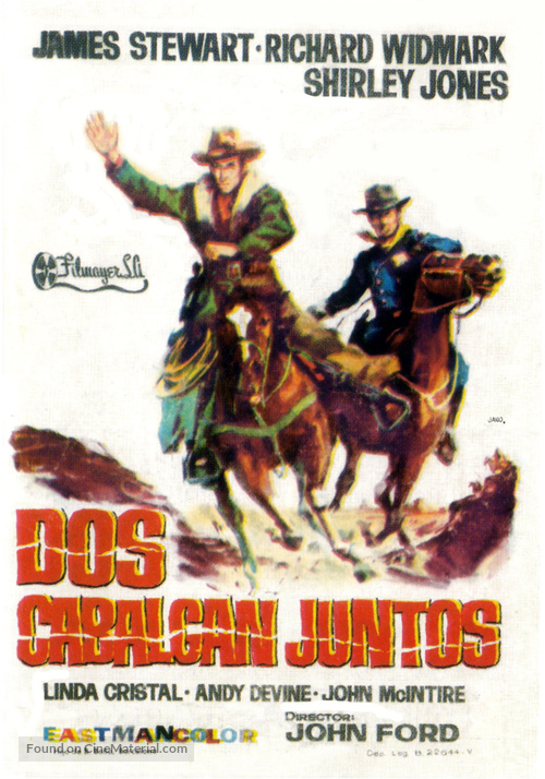 Two Rode Together - Spanish Movie Poster