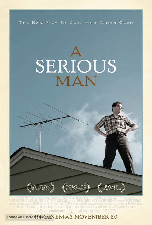 A Serious Man - British Movie Poster