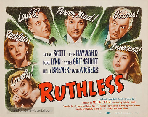 Ruthless - Movie Poster