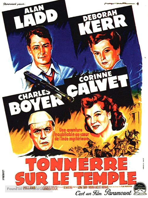 Thunder in the East - French Movie Poster