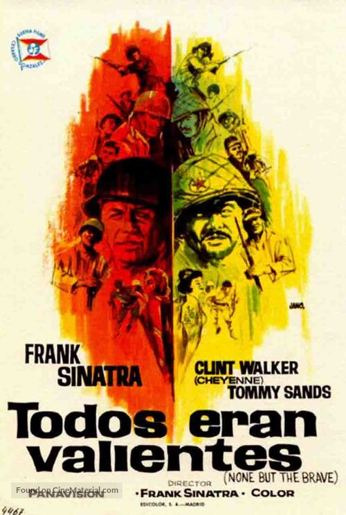 None But the Brave - Spanish Movie Poster