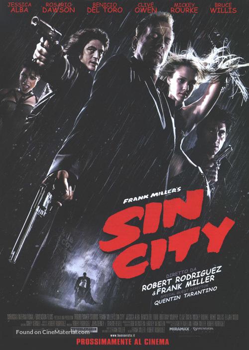 Sin City - Italian Movie Poster