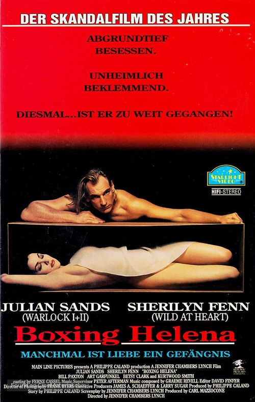 Boxing Helena - German VHS movie cover