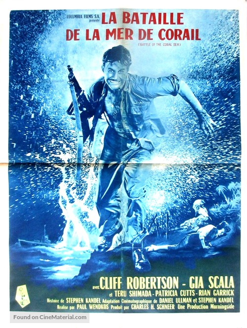 Battle of the Coral Sea - French Movie Poster