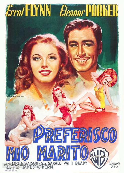 Never Say Goodbye - Italian Movie Poster