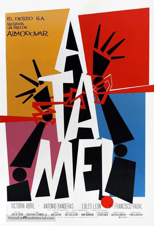 ¡Átame! - Spanish Movie Poster