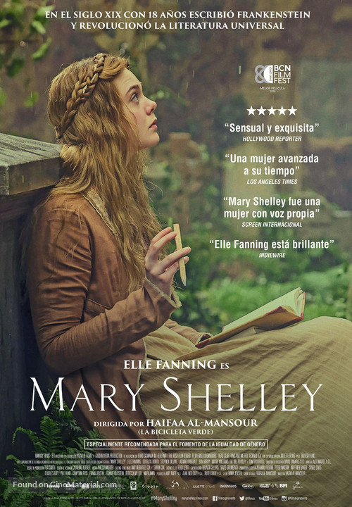 Mary Shelley - Spanish Movie Poster