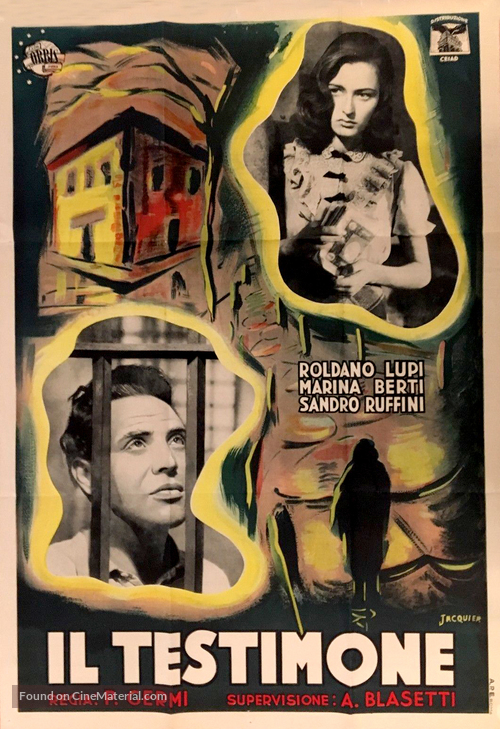 Il testimone - Italian Movie Poster