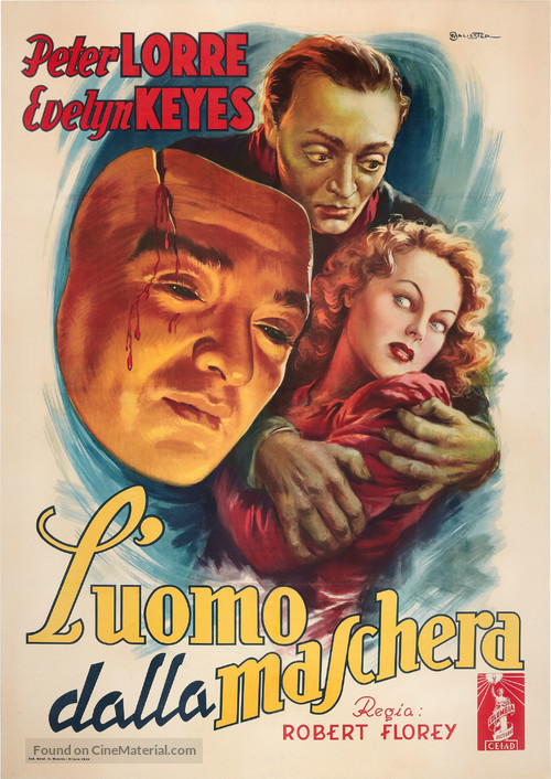 The Face Behind the Mask - Italian Movie Poster