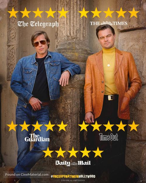 Once Upon A Time In Hollywood: Once Upon A Time In Hollywood British Movie Poster
