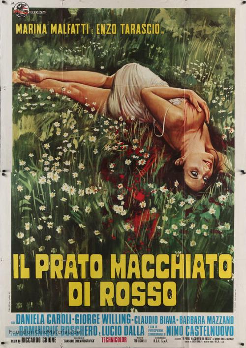 Il prato macchiato di rosso - Italian Movie Poster