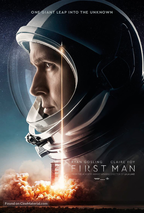 First Man - British Movie Poster