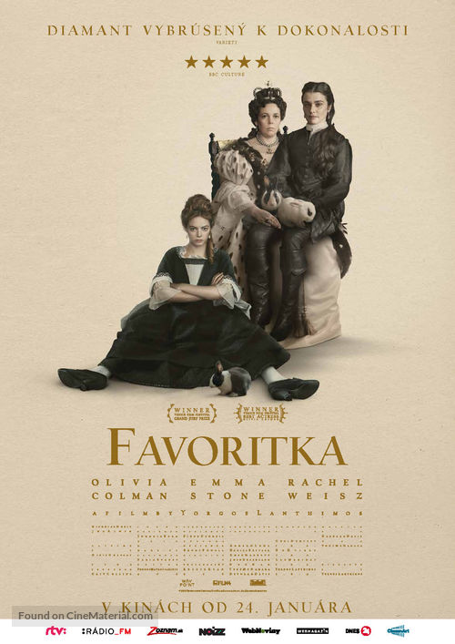 The Favourite - Slovak Movie Poster