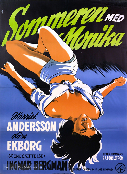 Sommaren med Monika - Danish Movie Poster