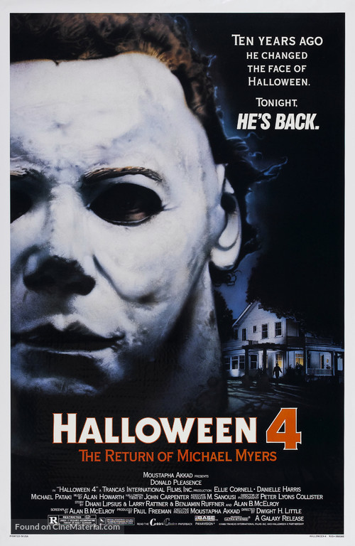 Halloween 4: The Return of Michael Myers - Movie Poster