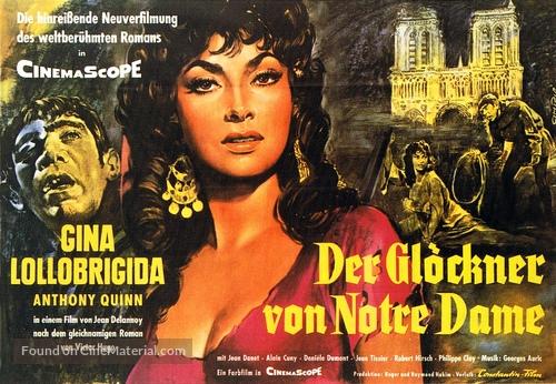 Notre-Dame de Paris - German Movie Poster