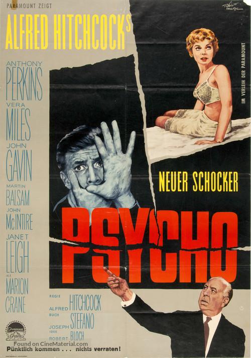 Psycho - German Movie Poster