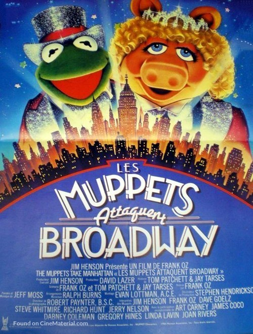 The Muppets Take Manhattan - French Movie Poster