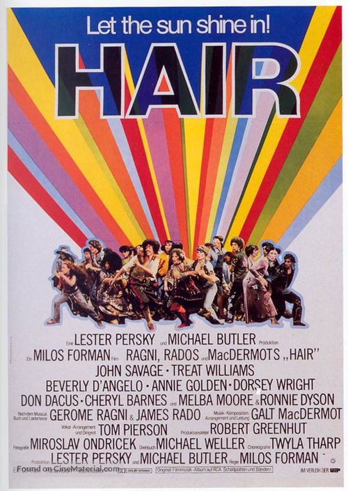 Hair - German Theatrical movie poster