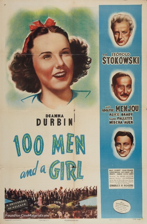 One Hundred Men and a Girl (1937) movie poster