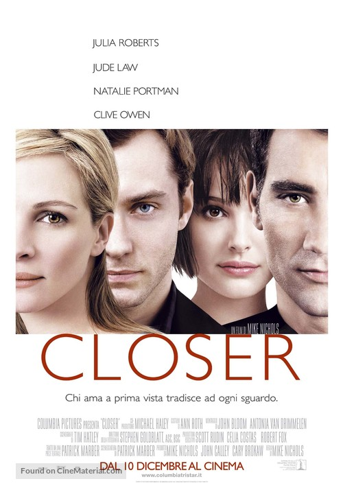 Closer - Italian Movie Poster