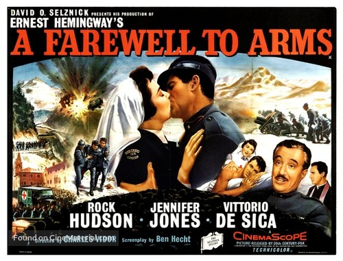 A Farewell to Arms British movie poster A Farewell To Arms Movie Poster