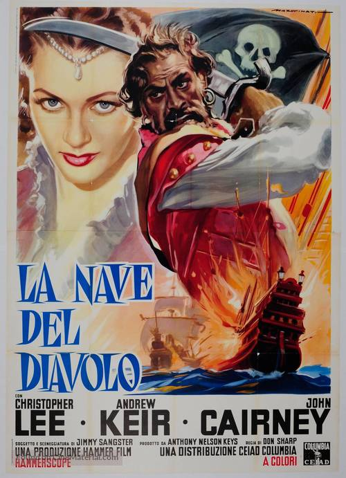 The Devil-Ship Pirates - Italian Movie Poster