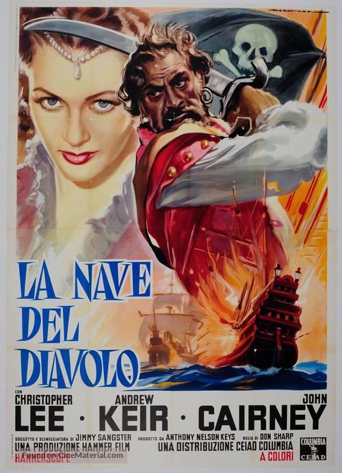 The Devil-Ship Pirates - Italian Movie Poster