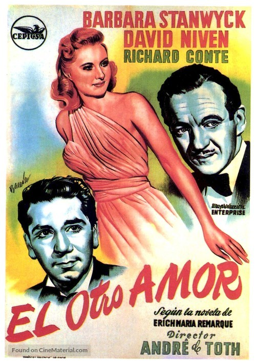 The Other Love - Spanish Movie Poster