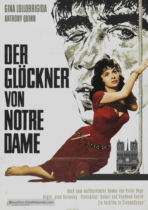 Notre-Dame de Paris - German Movie Poster