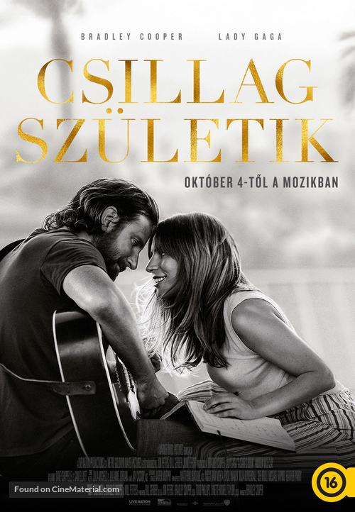 A Star Is Born - Hungarian Movie Poster