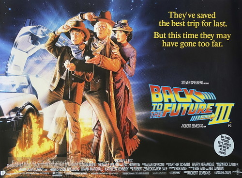 Back to the Future Part III British movie poster