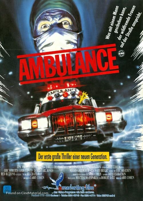 The Ambulance - German Movie Poster